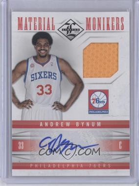 2012-13 Limited Material Monikers #50 - Andrew Bynum /49