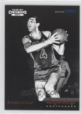 2012-13 Panini Contenders - Legendary Contenders #29 - Dolph Schayes