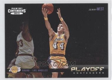2012-13 Panini Contenders - Playoff Contenders #24 - Jerry West