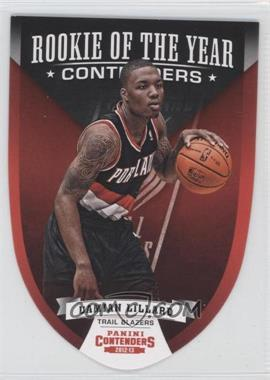 2012-13 Panini Contenders - Rookie of the Year Contenders #5 - Damian Lillard