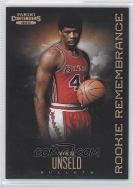 2012-13 Panini Contenders Rookie Remembrance #29 - Wes Unseld