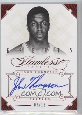 2012-13 Panini Flawless - Greats Autographs - Ruby #15 - John Thompson /15