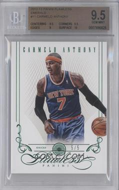 2012-13 Panini Flawless Emerald #11 - Carmelo Anthony /5 [BGS 9.5]