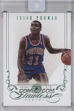 2012-13 Panini Flawless Emerald #82 - Isiah Thomas /5