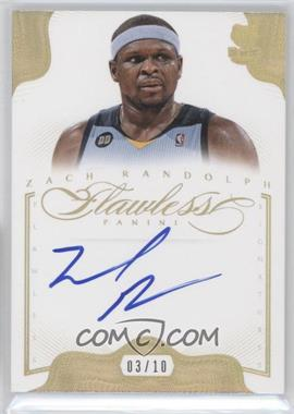 2012-13 Panini Flawless Flawless Signatures Gold #21 - Zach Randolph /10