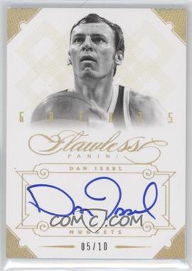 2012-13 Panini Flawless Greats Autographs Gold #18 - Dan Issel /10