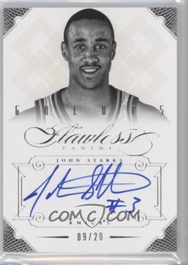 2012-13 Panini Flawless Greats Autographs #45 - John Starks /20