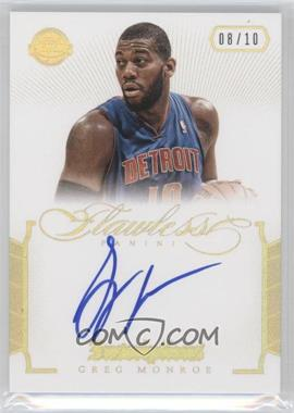 2012-13 Panini Flawless Inscriptions Gold #16 - Greg Monroe /10