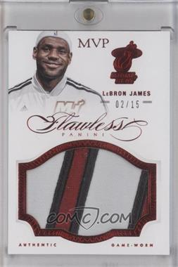 2012-13 Panini Flawless Patches Ruby #50 - Lebron James /15 [Near Mint‑Mint]