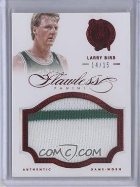 2012-13 Panini Flawless Patches Ruby #60 - Larry Bird /15