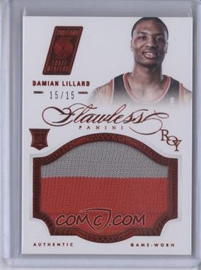 2012-13 Panini Flawless Rookie Patches Ruby #25 - Damian Lillard /15