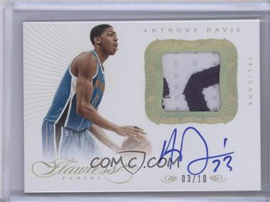 2012-13 Panini Flawless Spokesmen Patches Autographs Gold #10 - Anthony Davis /10