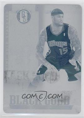 2012-13 Panini Gold Standard Black Gold Threads Printing Plate Cyan #67 - DeMarcus Cousins /1
