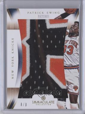 2012-13 Panini Immaculate Collection - Immaculate Patches #IP-PE - Patrick Ewing /9
