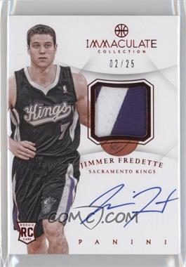 2012-13 Panini Immaculate Collection Autograph Patches Red [Autographed] #AP-JF - Jimmer Fredette /25