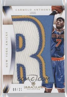2012-13 Panini Immaculate Collection Immaculate Patches Logos #IP-CA - Carmelo Anthony /21