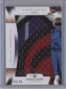 2012-13 Panini Immaculate Collection Immaculate Patches Logos #IP-VC - Vince Carter /38