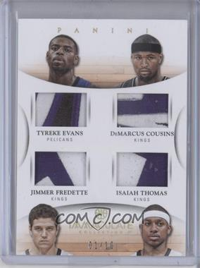 2012-13 Panini Immaculate Collection Immaculate Quad Materials Prime #6 - DeMarcus Cousins, Isaiah Thomas, Tyreke Evans, Jimmer Fredette /10