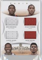 Jrue Holiday, Lavoy Allen, Evan Turner, Nick Young /50