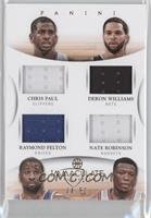 Chris Paul, Nate Robinson, Deron Williams, Raymond Felton /50