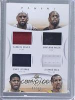 Dwyane Wade, George Hill, Paul George, LeBron James /50