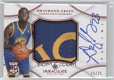 2012-13 Panini Immaculate Collection Premium Patches Signatures Chinese Red #PP-GY - Draymond Green /25