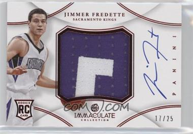 2012-13 Panini Immaculate Collection Premium Patches Signatures Chinese Red #PP-JF - Jimmer Fredette /25