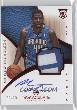 2012-13 Panini Immaculate Collection Rookies Chinese Red #151 - Andrew Nicholson /25