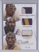 Kobe Bryant, Kareem Abdul-Jabbar, Karl Malone /10