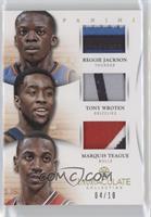Reggie Jackson, Tony Wroten, Marquis Teague /10