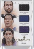 Luis Scola, Manu Ginobili, Pablo Prigioni /99