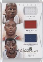 Ray Allen, Andre Drummond, Caron Butler /99