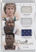 Larry Bird, Patrick Ewing, Karl Malone /99