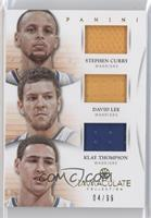 Klay Thompson, Stephen Curry, David Lee /99