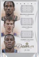 Brandon Jennings, Darren Collison, Goran Dragic /99