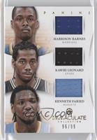 Harrison Barnes, Kawhi Leonard, Kenneth Faried /99