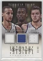 David Lee, Harrison Barnes, Stephen Curry /49