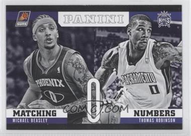 2012-13 Panini Matching Numbers #10 - Thomas Robinson, Michael Beasley