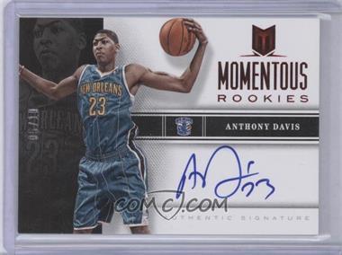 2012-13 Panini Momentum - Momentous Rookies Autographs - Red #40 - Anthony Davis /10