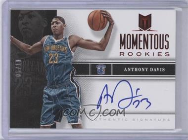 2012-13 Panini Momentum Momentous Rookies Autographs Red #40 - Anthony Davis /10