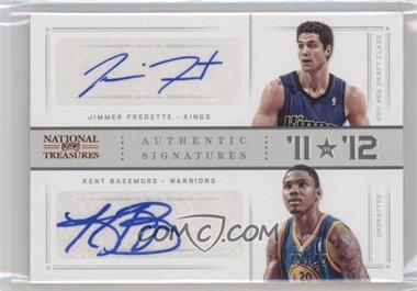 2012-13 Panini National Treasures - '11 vs '12 Signatures - [Autographed] #40 - Jimmer Fredette, Kent Bazemore /49