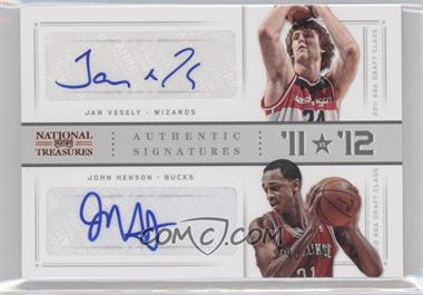 2012-13 Panini National Treasures - '11 vs '12 Signatures - [Autographed] #75 - Jan Vesely, John Henson /99