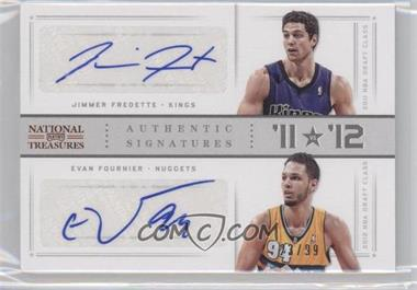 2012-13 Panini National Treasures - '11 vs '12 Signatures - [Autographed] #80 - Evan Fournier, Jimmer Fredette /99
