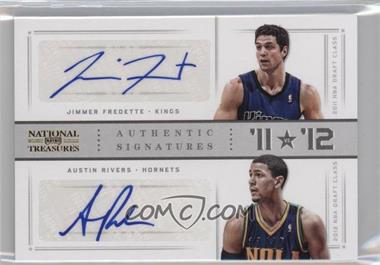 2012-13 Panini National Treasures - '11 vs '12 Signatures - Gold [Autographed] #10 - Austin Rivers, Jimmer Fredette /25