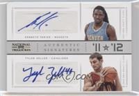Kenneth Faried, Tyler Zeller /25