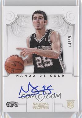 2012-13 Panini National Treasures - [Base] #196 - Group II Rookies Autographs - Nando De Colo /99