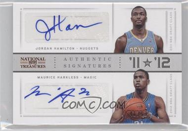 2012-13 Panini National Treasures '11 vs '12 Signatures [Autographed] #53 - Jordan Hamilton, Maurice Harkless /99
