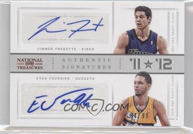 2012-13 Panini National Treasures '11 vs '12 Signatures [Autographed] #80 - Evan Fournier, Jimmer Fredette /99