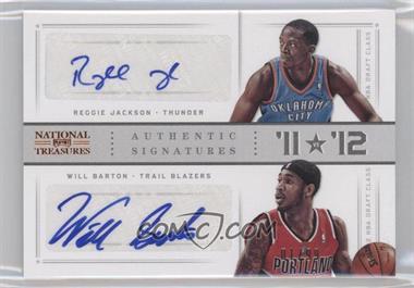 2012-13 Panini National Treasures '11 vs '12 Signatures [Autographed] #84 - Reggie Jackson, Will Barton /99
