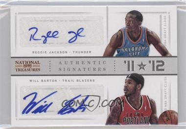 2012-13 Panini National Treasures '11 vs '12 Signatures [Autographed] #84 - Reggie Jackson, Will Barton /99